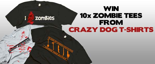 WIN: 1 Of 10 Zombie Tees From Crazy Dog T-Shirts