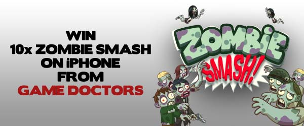 WIN: 1 Of 10 Copies Of Zombie Smash On iPhone From Game Doctors