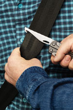Cuts through seatbelts Leatherman Charge TTi   My Zombie Knife