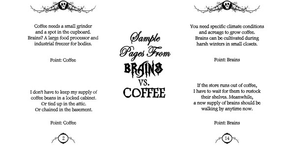 brains vs coffee sample Brains Vs. Coffee   Review