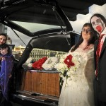 Both zombie wedding couples