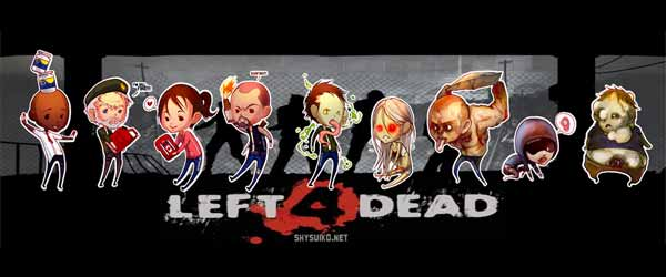 l4d stickers Left 4 Dead Chibi Stickers