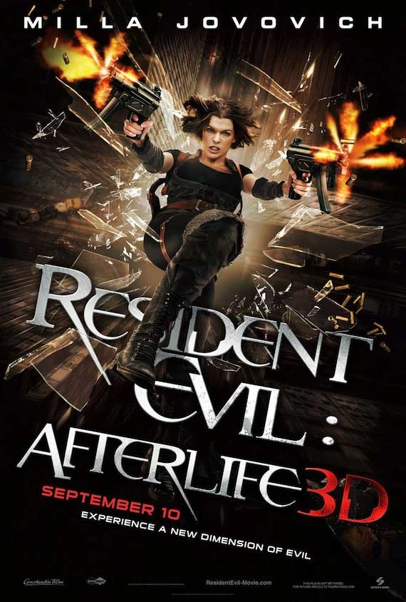 New Resident Evil Afterlife poster