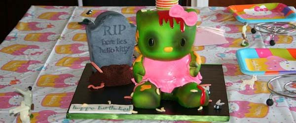 hello kitty zombie cake Hello Kitty Zombie Cake