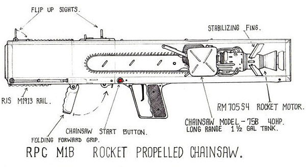 rpc Ultimate Zombie Weapon   Rocket Propelled Chainsaw