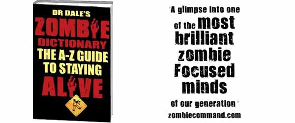 zombie dictionary Dr Dales Zombie Dictionary: The A Z Guide To Staying Alive   Review